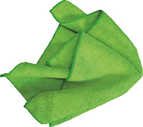 AMMEX - MF50G16X16GR - Microfiber Towel - Fast Absorbing, Soft and Lint Free, Machine Washable, Green (Case of 144) by Ammex