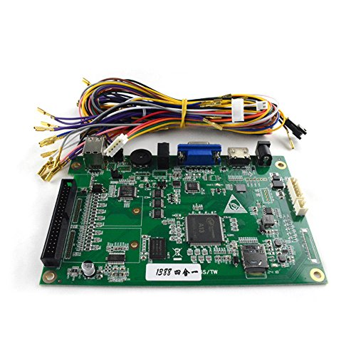 BLEE Pandora Box 6S PCB Jamma Board 1388 in 1 Multi Arcade Games with Jamma Wiring Harness Cable for Arcade Cabinet Arcade ()