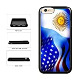 BleuReign(TM) Argentina And USA Mixed Flag TPU RUBBER Phone Case Back Cover For Apple iPhone 8 and iPhone 7