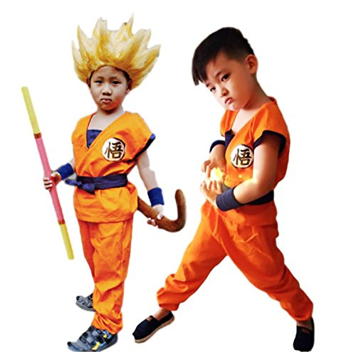 GK-O Anime Dragon Ball Z Son Goku Saiyan Cosplay Costume for Kids