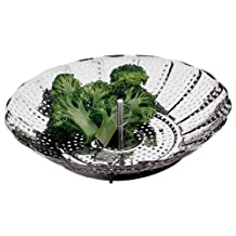 Amco 10957 Collapsible Steamer, Stainless Steel