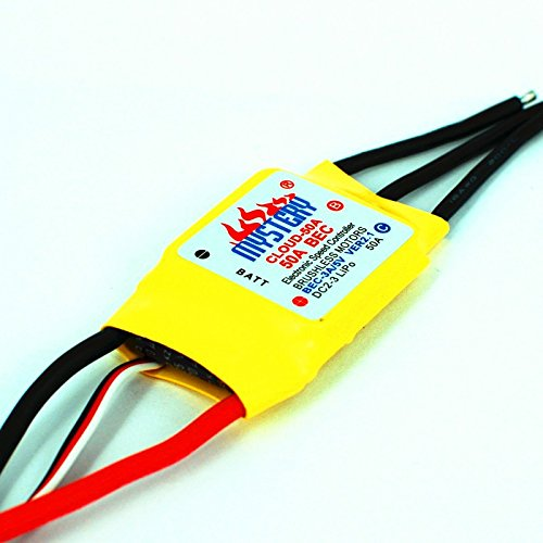 Mystery Cloud 50A brushless ESC w/2A BEC RC Speed Controller Brushless Motor RC Airplane Helicopter