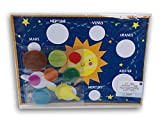 Solar System Planets Space Gel Clings Activity Poster -Kindergarten Preschool -9 Piece