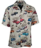 Olds Oldsmobile Classic Cars Hawaiian Camp Shirt by David Carey (L)