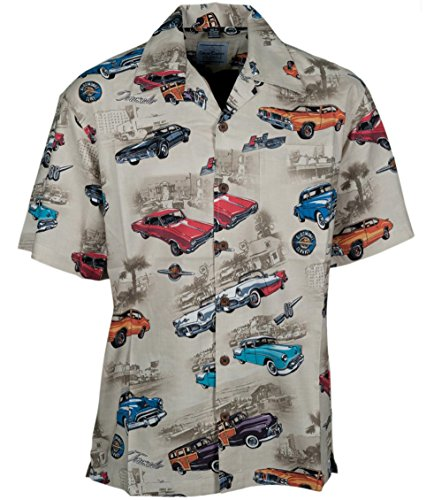 Olds Oldsmobile Classic Cars Hawaiian Camp Shirt by David Carey (3X)