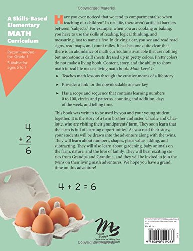 Math Lessons for a Living Education Level 1 by New Leaf Publishing Group (Image #1)