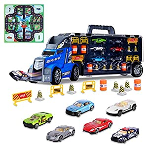 Best Epic Trends 51yeumS5O0L._SS300_ Aokesi Transport Car Carrier Truck Toy - Mini Car and Play Vehicle Set for Kids, Best Gift for Boys Girls Age of 3-12…