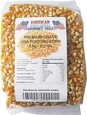 Popcorn Maiz Palomitas Premium Americano Gourmet 1000g: Amazon.es: Alimentación y bebidas