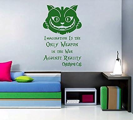 Amazon Com Ik2583 Wall Decal Sticker Alice In Wonderland Cheshire