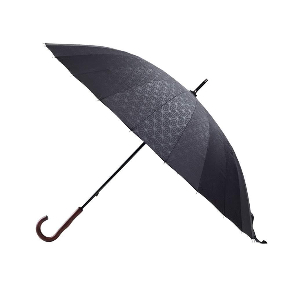 傘 傘 - 24リブ付き木製ハンドルロングハンドル傘無地 スティック傘 (色 : B) B07QR3WL27 B