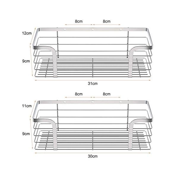 51yevXZJv9L Amazon Brand – Umi Duschkorb Duschablage in 2er Set ohne Bohren, selbstklebendes Duschregal aus 304 Edelstahl, Eckablage…