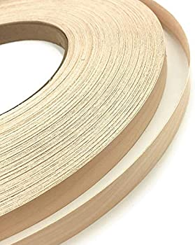 Made in USA. Maple Pre finished Preglued 2 X 25 Wood Veneer Edgebanding Clear UV Laquer Finish