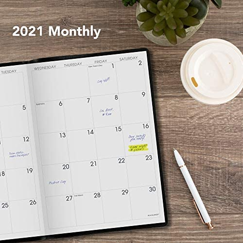 2021 Blue Monthly Lg PLANNER Calendar Planning Guide 7x10 Large Time Organizer