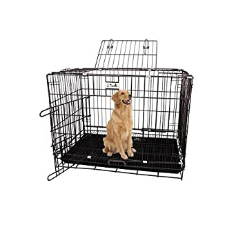 Jainsons Pet Products Black Cage Crate Kennel With Removable Tray