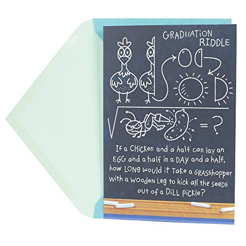 Hallmark Funny Graduation Greeting Card (Graduation Riddle)