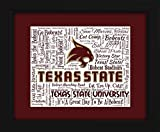Texas State University 16x20 Art Piece - Beautifully matted and framed behind glass
