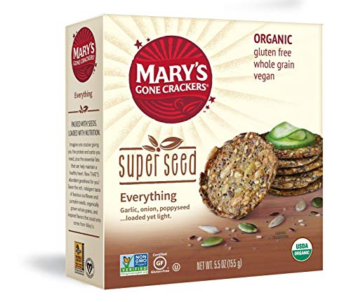 Mary's Gone Crackers Super Seed Crackers, 5g of Organic Plant Based Protein, Gluten Free, Everything, 5.5 Ounce (Pack of - Crackers Gone