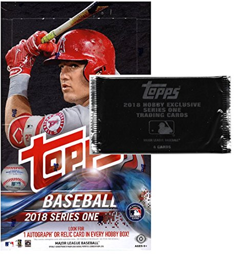 2018 Topps Series 1 MLB Baseball HOBBY box (36 pk) + ONE EXCLUSIVE BONUS PACK! (Topps Mlb Box)