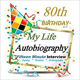 80th Birthday Decorations My Autobiography Party Favor For Guest Of Honor Gifts Her Him In All Departments Paperback