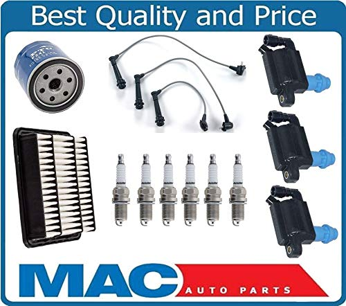 Mac Auto Parts 157939 Platinum Spark Plug Ignition Wires Coils Oil Air Filter for Lexus GS300 ()
