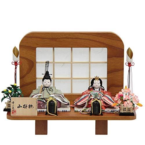 雛人形 親王平飾り【山桜桃】 [幅44cm] 幸一光 格子セット [193to1088-a32] 雛祭り   B07K76HCNN
