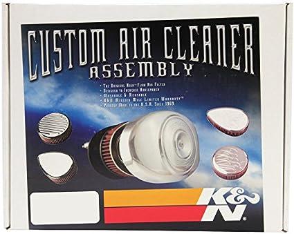 Rot K/&N RK-3925-1 Motorrad Lufteinlass System
