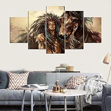 Amazon.de: Moderne Malerei modulare Bilder indische Mädchen ...