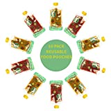reusable baby food pouch 7 oz - Reusable Food Pouch Transparent Mold Free (10 Pk) (Fruit)