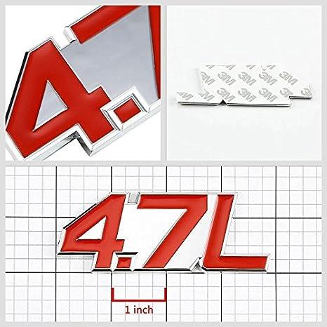 3.0L Black//Chrome Aluminum Alloy Auto Trunk Door Fender Bumper Badge Decal Emblem Adhesive Tape Sticker