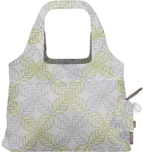 ChicoBag Vita Contemporary Collection Reusable Shopping Tote/Grocery Bag, Leaf Square