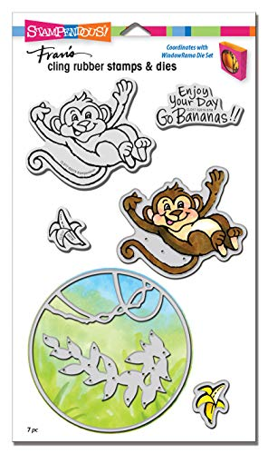 (Stampendous CLD17 Monkey Cling Stamp/Die Set,)