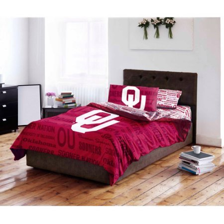 NCAA University of Oklahoma Sooners Bed in a Bag Complete Bedding Set (Full)