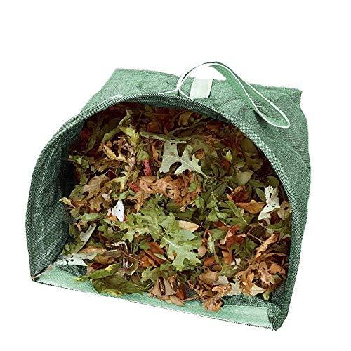 2-Pack Garden Waste Bags,Reusable Leaf Bag,Lawn Pool Garden Leaf Waste Bag,Yard Dustpan Type Garden Bag for Collecting Leaves ()