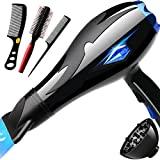 Nclon Salon tools 3000w Dry hair dryer,Powerful Household Quiet Professional Faster drying-A
