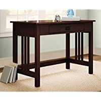 Alaterre Pine Canopy Denali Classic Single-drawer Desk Espresso Espresso Finish