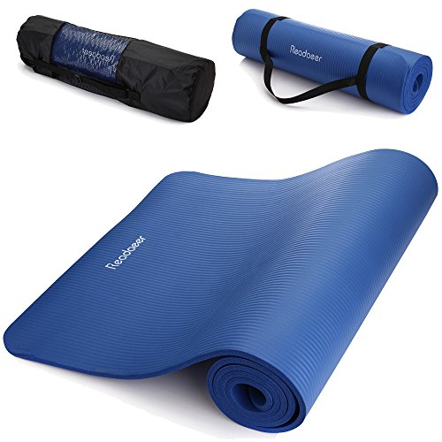 Readaeer¨10mm Thick Exercise Yoga Mat Pad with Carrying Bag and Strap