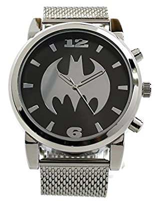 Batman Silvertone Mesh Strap Watch (Bat8043)