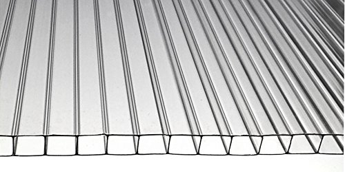 Polycarbonate Greenhouse Cover 8mm - Clear 24'' x 48'' (Pak of 5) by Policarb / Macrolux
