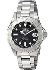 Invicta Womens Pro Diver Quartz Stainless Steel Diving Watch, Color:Silver-Toned (Model: 24631)