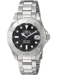 Womens Pro Diver Quartz Stainless Steel Diving Watch, Color:Silver-Toned