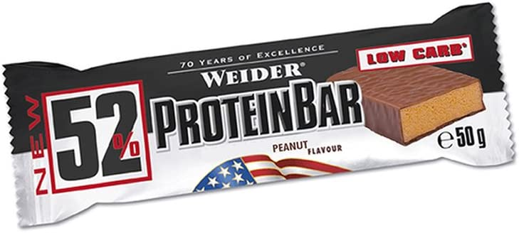 Weider 52% Barritas de Proteínas Peanut&Caramel - 50 gr