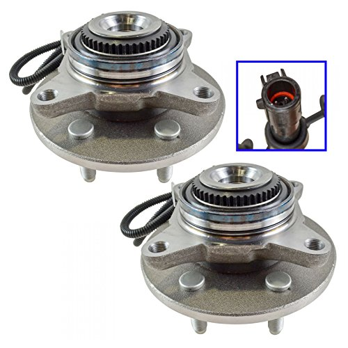 Wheel Hub & Bearing Assembly Front 4WD Pair for Ford F150 Lincoln Mark LT