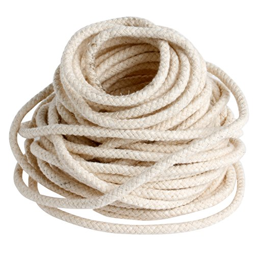 Braided Wick (Hunulu 10M 33 ft Braided Cotton Core Candle Making Wick For Oil Or Kerosene Lamps 4mm)