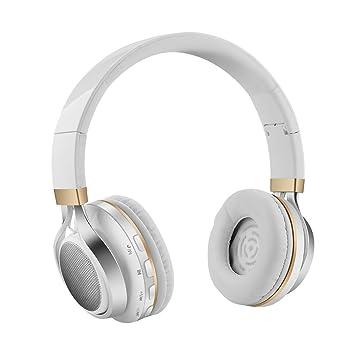 Aita BT816 Auriculares Bluetooth de Diadema Plegable, Cascos Estéreo con luz LED, radioFM, ranura para tarjeta de memoria micro SD, Micrófono ...