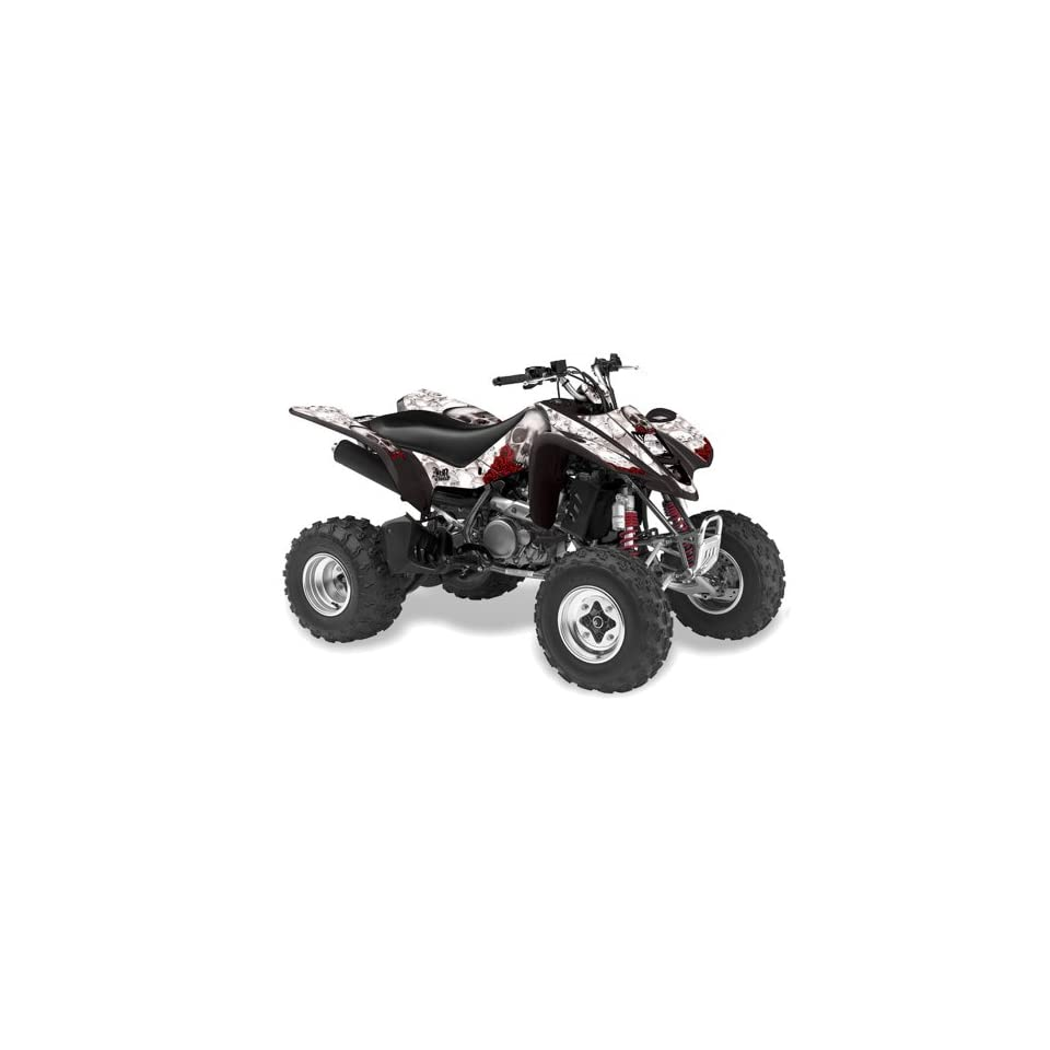 AMR Racing Suzuki LTZ 400 2003 2008 ATV Quad Graphic Kit   Bone Collector White