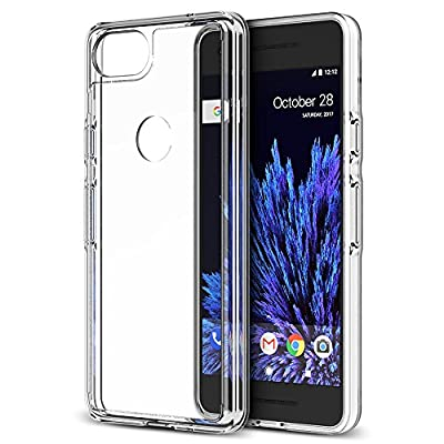 Trianium CLARIUM SERIES Case for Google Pixel 2 Phone (2017) Premium Pixel 2 Case Clear Hybrid Cover [Shock Absorption TPU +PC Back] Pixel2 Case reinforced Corner Cushion /Scratch Resistant Protection
