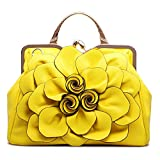 SUNROLAN Women's Evening Clutches Handbags Formal Party Wallets Wedding Purses Wristlets Ethnic Totes Satchel (Yellow)