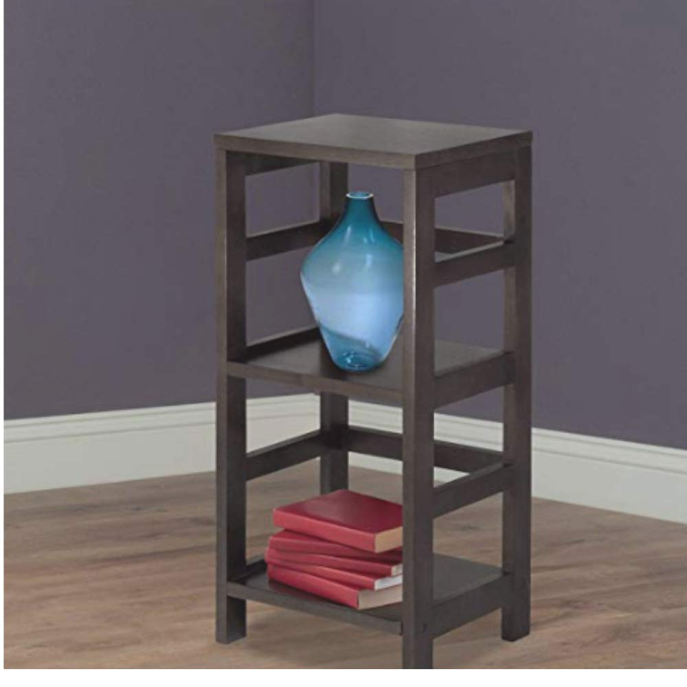 Shelf Unit, Storage Unit, Premium Quality, Espresso Color, Tall Bookcase, Solid Wood, Modern Design, Best Storage Unit, Compact Construction & E-Book Home Décor by WNS