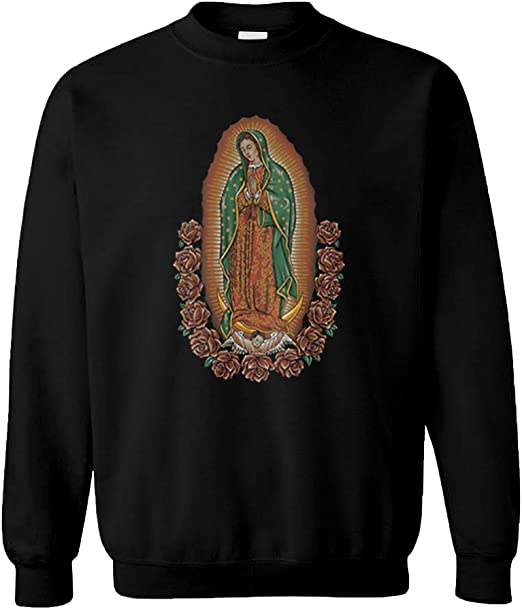 Mary is Mother Our Lady of Guadalupe Unisex Printed Pullover Hoodie