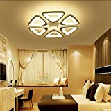 Cheap LED Ceiling Lighting Fixture- Contemporary Chandelier for Dining Room, Living Room, and Bedroom: by Velette (Warm, 6 Heads)